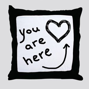 You Are Here | Throw Pillow