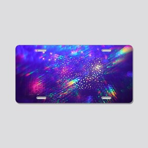 Rainbow Explosion Aluminum License Plate