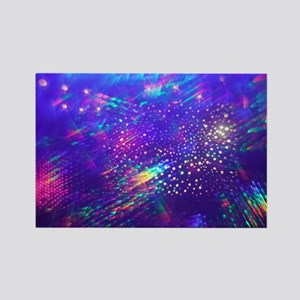 Rainbow Explosion Rectangle Magnet