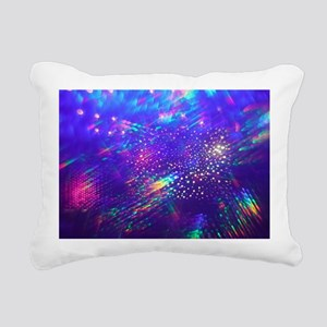 Rainbow Explosion Rectangular Canvas Pillow