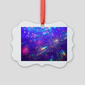 Rainbow Explosion Picture Ornament