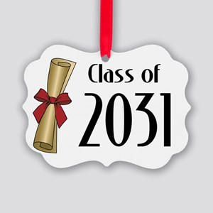 Class of 2031 Diploma Picture Ornament