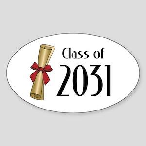 Class of 2031 Diploma Sticker (Oval 50 pk)