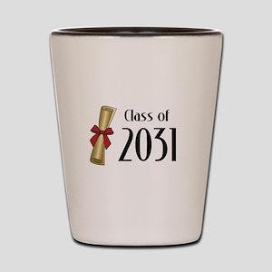 Class of 2031 Diploma Shot Glass