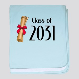Class of 2031 Diploma baby blanket