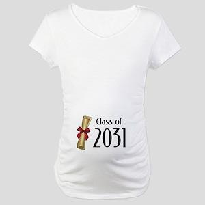 Class of 2031 Diploma Maternity T-Shirt