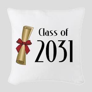 Class of 2031 Diploma Woven Throw Pillow