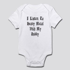I Listen To Heavy Metal With My Daddy Infant Bodys
