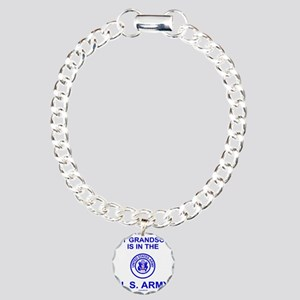 ArmyMyGrandsonInBlue Charm Bracelet, One Charm