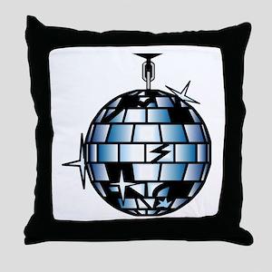 Disco Ball 70s Dance Music Throw Pillow