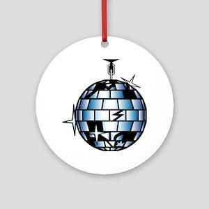 Disco Ball 70s Dance Music Ornament (Round)