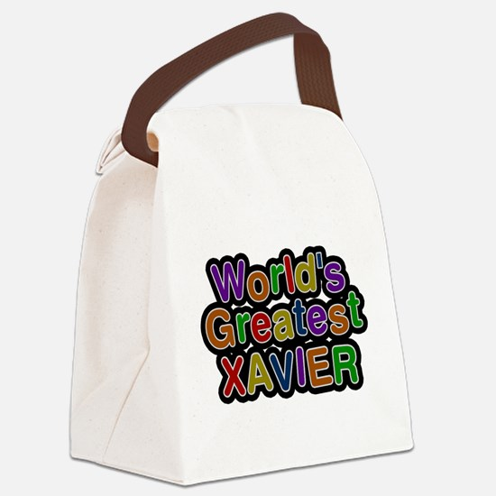 Worlds Greatest Xavier Canvas Lunch Bag