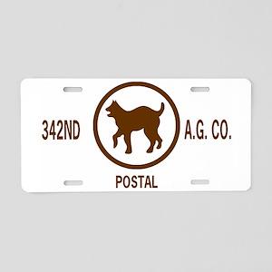 ArmyReserve342ndAGCoKhakiCa Aluminum License Plate