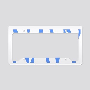 navywhitecap5x License Plate Holder
