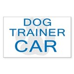 Dog Trainer Car Rectangle Sticker