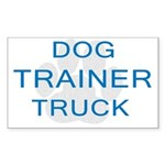 Dog Trainer Truck Rectangle Sticker