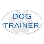 Dog Trainer Oval Sticker