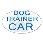 Dog Trainer Car Oval Sticker