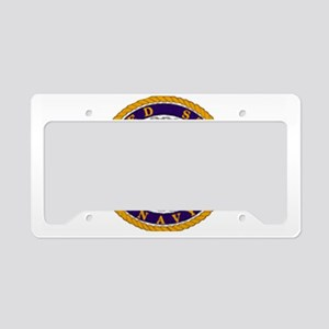 NavyWhiteCap2X License Plate Holder
