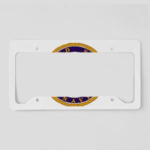 NavyWhiteCap2X License Plate Holder