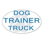 Dog Trainer Truck Oval Sticker