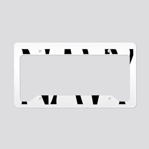 NavyWhiteCap4 License Plate Holder