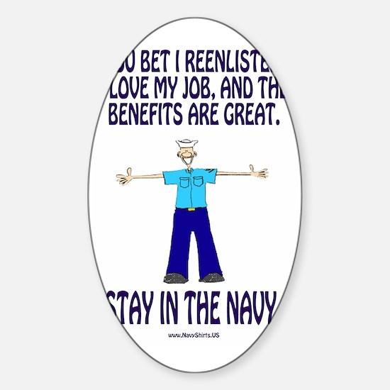 NavyMiniPosterStayInTheNavy.gif Sticker (Oval)