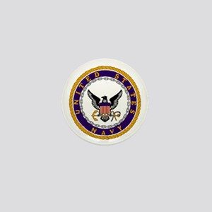 NavyLogoForTeeshirtsX Mini Button