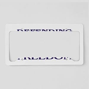 NavyStickerDefendingFreedom.g License Plate Holder