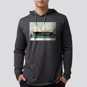 The iron steam ship Great Eastern - 1858 Mens Hood