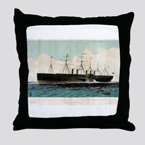 The iron steam ship Great Eastern - 1858 Throw Pil