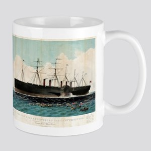 The iron steam ship Great Eastern - 1858 11 oz Cer