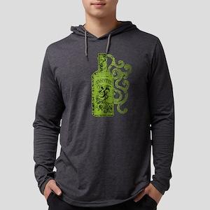 absinthe-bottle-swirl Mens Hooded Shirt