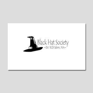 Black Hat Society Car Magnet 20 x 12