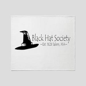 Black Hat Society Throw Blanket