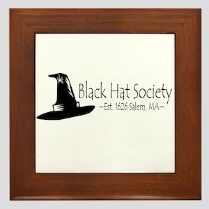 Black Hat Society Framed Tile