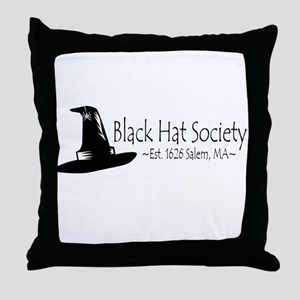 Black Hat Society Throw Pillow
