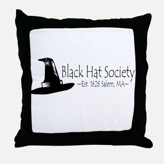 Black Hat Society Throw Pillow