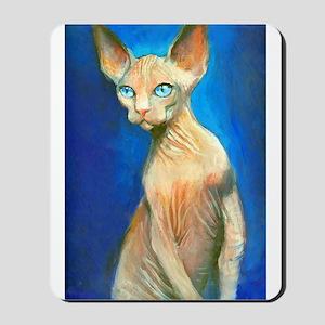 Sphynx cat 15  Mousepad