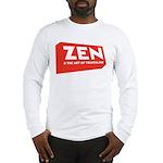 ZenTri Logo Red Long Sleeve T-Shirt