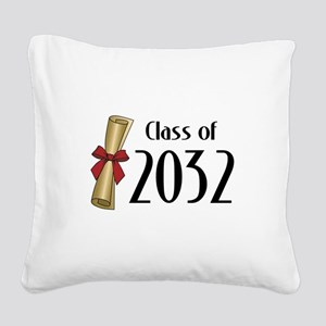 Class of 2032 Diploma Square Canvas Pillow