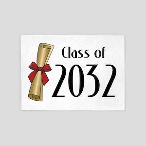 Class of 2032 Diploma 5'x7'Area Rug