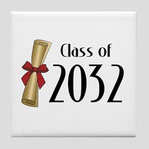 Class of 2032 Diploma Tile Coaster