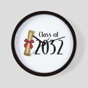 Class of 2032 Diploma Wall Clock