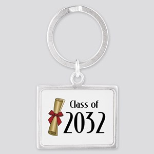 Class of 2032 Diploma Landscape Keychain