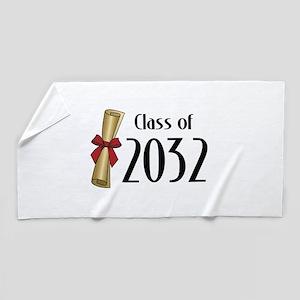 Class of 2032 Diploma Beach Towel