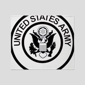 ArmyLogoBlackAndSilver Throw Blanket