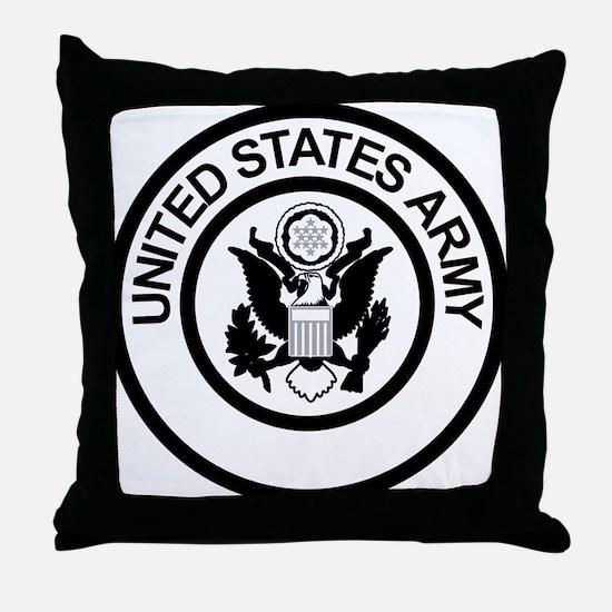 ArmyLogoBlackAndSilver.gif Throw Pillow