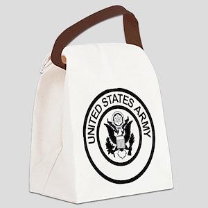 ArmyLogoBlackAndSilver Canvas Lunch Bag