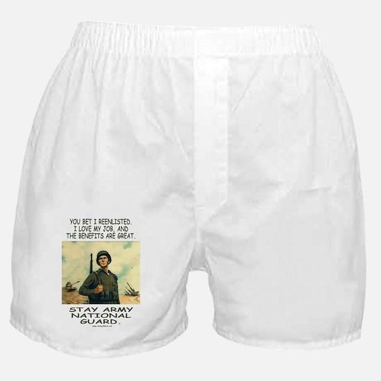 ArmyHumorStayNationalGuardMiniPoster. Boxer Shorts